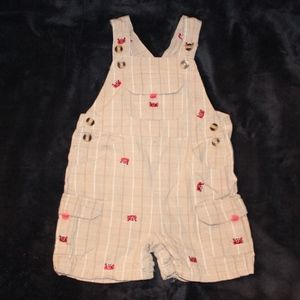 Other - 3 for $15 - Cute Crab Shortalls - 24 Months